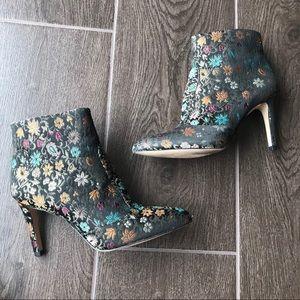 b5d1a45c05a2fd Sam Edelman Shoes - Sam Edelman Olette 2 Floral Pointed Toe Bootie 6